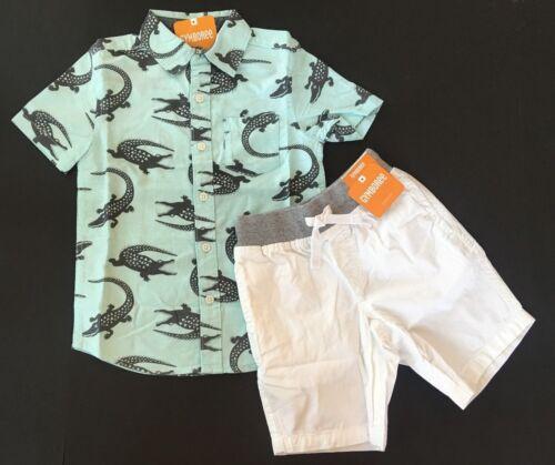 Gymboree Boys Gator Shirt /& White Shorts Outfit 5 6 7 8 12 NEW NWT $53.90