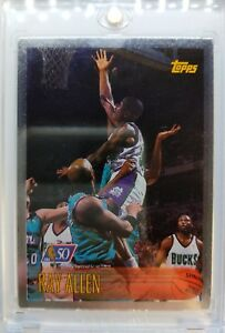 1996-96-97-Topps-NBA-at-50-Foil-Ray-Allen-RC-Rookie-Very-Rare-Parallel