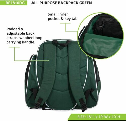 Vented Ball /& Cleats Pockets Champion Sports Large Soccer Backpack Dark Green