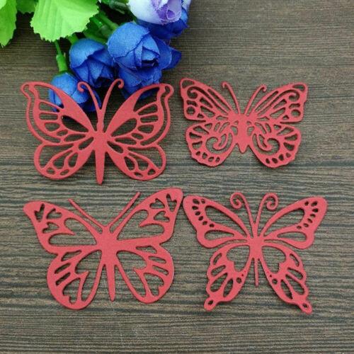 Four Butterflies Metal Cutting Dies Stencil DIY Scrapbooking Paper Card Craft RX