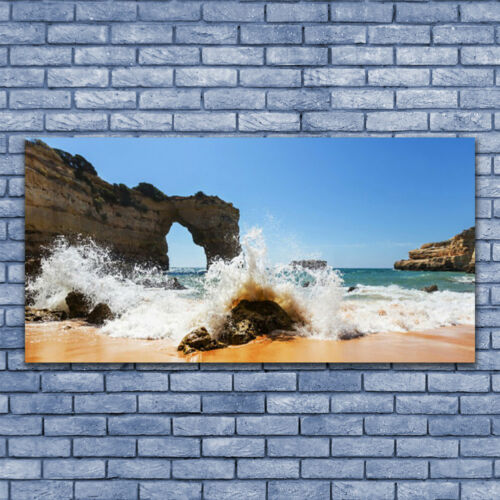 Glasbilder Wandbild Druck auf Glas 140x70 Strand Meer Landschaft