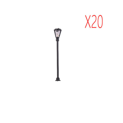 20pcs Kit Miniatur Lampe LED ABS Straßenlaterne Licht Modell Einzelner Kopf 6V