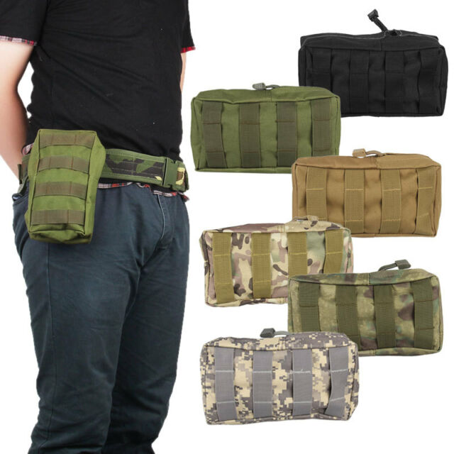 Tactical Military MOLLE Utility Accessory Open Top Zipper Magazine Pouch Bag