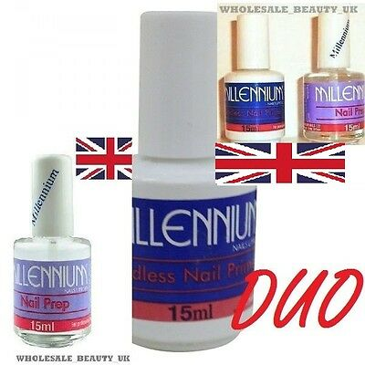 Acrylic Nail PRIMER + PREP Dehydrator 15mls DUO   For Acrylic & UV Gels