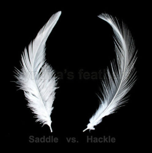 "Silver Grey 5-7/"" Hackle Rooster COQUE Feathers for crafting 100+ 7.0g, 1//4Oz"