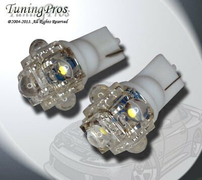 T10 Wedge 1 Pair Set of 2pcs White Under Hood Light 9 Flux LED Bulbs 906 194