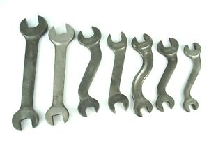 """Vintage Lot of 7 Tools  """"S"""" Curved and Straight Billings & Spencer Wrenches"""