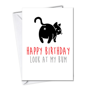 image regarding Cat Birthday Card Printable named Info relating to Humorous Birthday Card against the Cat appearance at my Dog Concept Cats companion paw print