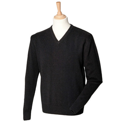 Henbury HB730 laine d/'agneau homme col V manches longues Pull Pull Top winterswear