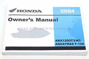 new owners manual 2004 aquatrax arx1200 t3 n3 f12x oem honda book rh ebay com 04 Honda Aquatrax Turbo Review 2004 Honda Aquatrax Turbo