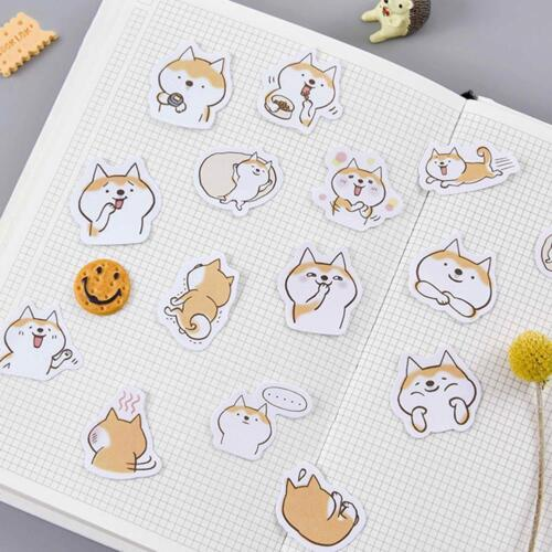 45pcs Cartoon Animals Sticker Dogs For DIY Scrapbook Album Diary Notebook 2019