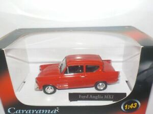 Ford-Anglia-Mk1-Red-MODEL-CAR-1-43-1960-039-S-105E-2-DOOR-SALOON