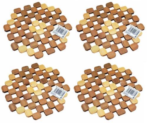 4x Topfuntersetzer aus BambusPfannenuntersetzerBambus Untersetzer Ø 20cm