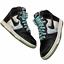 thumbnail 1 - Size-6-5-2007-Nike-Dunk-High-Santana-Black-Glacier-Ice-Blue-VTG-SB-312786-003