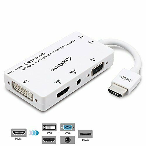 Mini HDMI to HDMI with Audio Output Micro HDMI to HDMI CABLEDECONN 3 In1 HDMI Male to VGA Adapter Convertor Cable