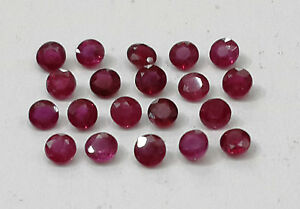 1-54cts-20pc-Natural-Ruby-Lot-Round-Beautiful-Permanent-Dark-Red-Color-2-4-2-5mm