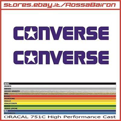 Kit 2 stickers converse all star mm.100x14 - DECALS AUFKLEBER pegatinas stickers | eBay