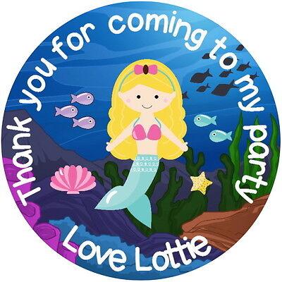 2019 Mode Personalised Mermaid Quality Gloss Party Bag Box Labels Sweet Cone Stickers Een Grote Verscheidenheid Aan Modellen