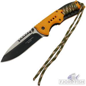 HERBERTZ-Einhandmesser-Klappmesser-Angelmesser-Outdoormesser-Guertelclip-NEU