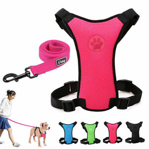 Soft-Air-Mesh-Dog-Car-Harness-and-Pet-Leads-Leash-for-Small-Large-Dogs-Chihuahua
