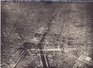 Francia Foto Aérienne De Paris Grande Guerre WW1 Vintage Analogica 7-8-1916