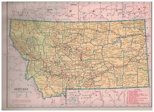 1942-Railroad-Map-of-Montana-With-A-Railroad-Map-of-Nebraska-On-The-Reverse