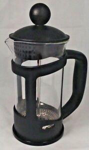 Porción 3 Taza Cafetiere cafetera Mezclador Émbolo Prensa Jarra De Cristal Negro  </span>