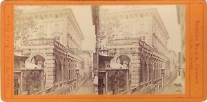 Genova Palazzo Italia Foto Alfredo Noack Stereo Albumina Ca 1870