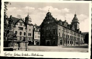 Gotha-Rathaus-Ratskeller-Schellenbrunnen-Echt-Fotografie-Ansichtskarte-AK-PK