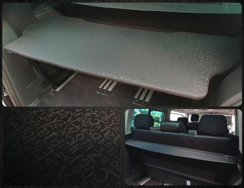 VW T5 /& T6 Multivan Multiflexboard Bettverlängerung Ablage H 53cm Schwarz 04
