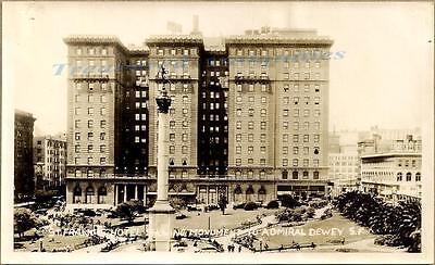 1920s San Francisco California St Francis Hotel Admiral Dewey Monument  Photo | eBay