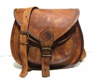 Details about  /Vintage Real Leather Genuine Handmade Women Shoulder Sling Purse Bag Saddle Tote
