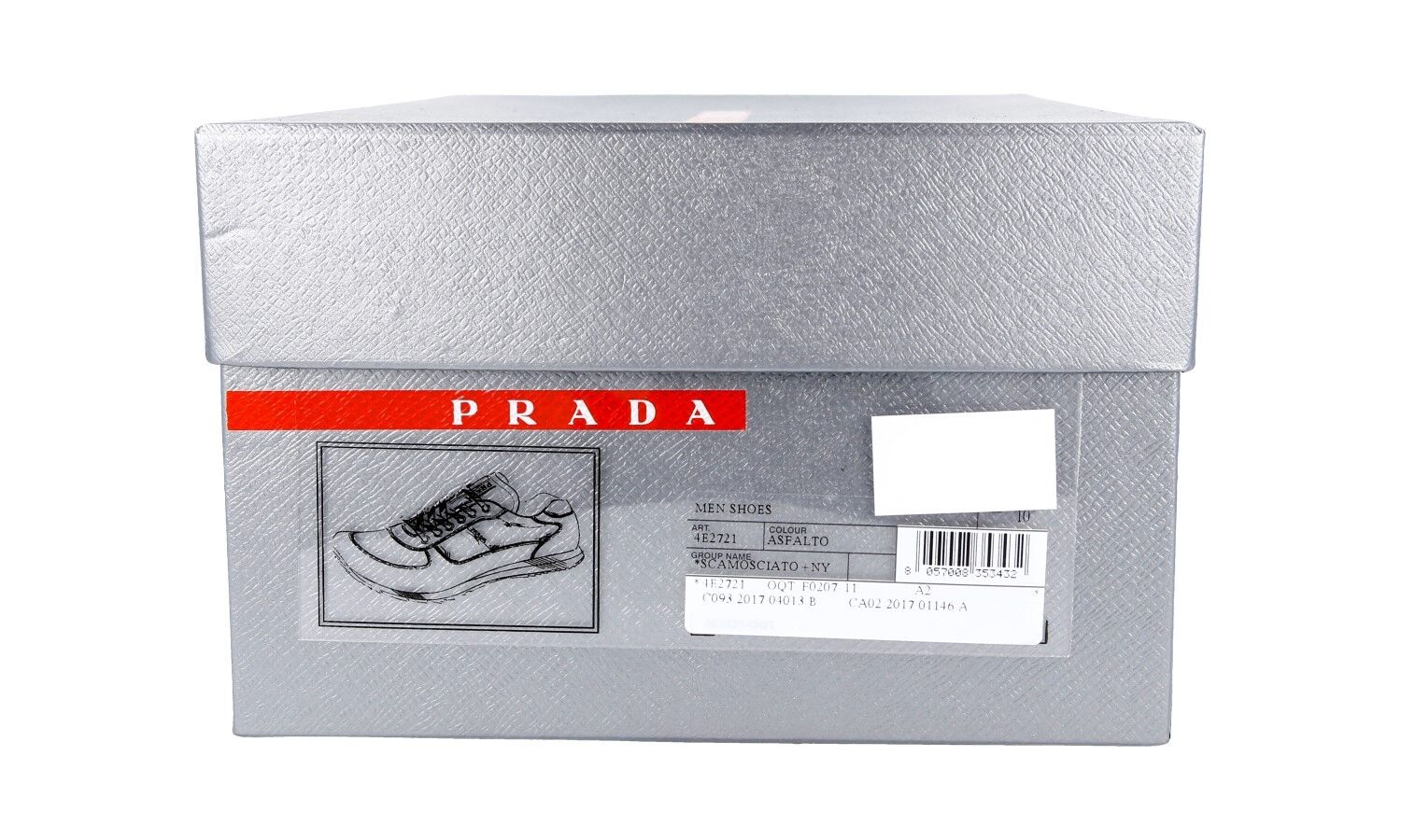 AUTHENTIC LUXURY 4E2721 PRADA SNEAKERS SHOES 4E2721 LUXURY ASFALTO NEW US 8 EU 41 41,5 9e0799