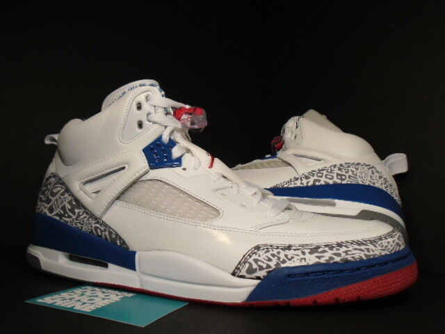 07 Nike Air Jordan SPIZIKE bianca TRUE blu FIRE rosso rosso rosso CEMENT grigio 315371-163 13.5 5e8b8d