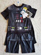 508-510 Boys Star Wars PJ Pajama Short Sleeve Set With Detachable Cape