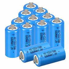 12pcs a set Ni-Cd 600mAh 1.2V 2/3AA Rechargeable Battery NiCd Batteries - Blue