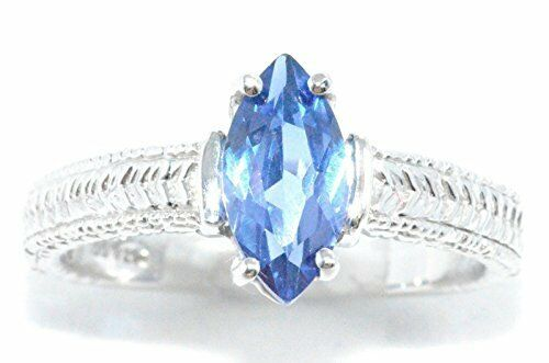 1 Ct Tanzanite Marquise Ring .925 Sterling Silver