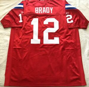 Details about Tom Brady New England Patriots 2009 authentic Reebok red game model third jersey