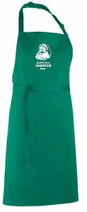 Santa is a Norwich Fan Christmas Apron.Secret Santa Gift