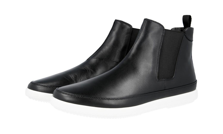 Autorización de lujo Prada Half-Zapatos Bota 4T3154 negro nuevo nos 9