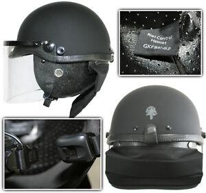 Schutzhelm-Einsatzhelm-Polizei-SWAT-mit-Visier-und-Nackenprotektoren-NEU