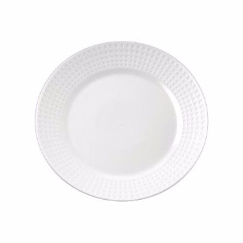 120ct 10.25  Weiß H-Duty Round Plastic Dinner Plates YOSHI Majestic Collection