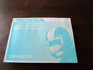Honda CBR 600 F CBR600F 1998 Uso e Manutenzione Manual del propietario