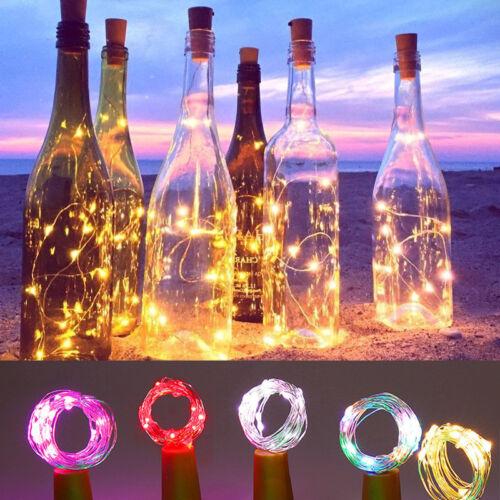 20 LED Cork Shaped LED Night Starry Light Wine Bottle Lamp for Xmas Party Decor