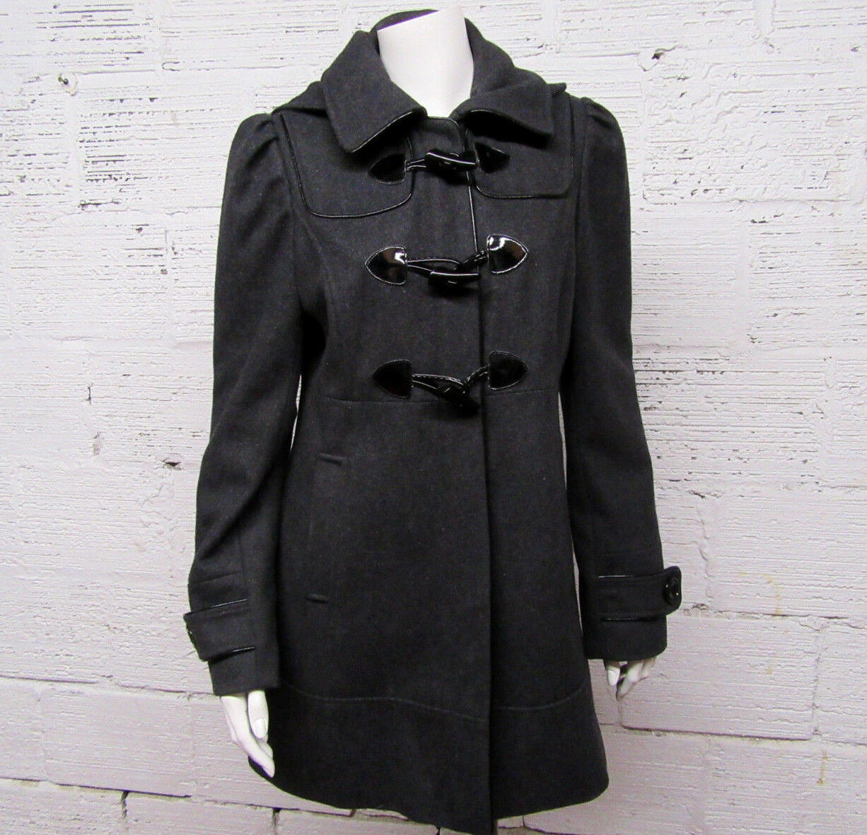 GUESS Womens Size M Charcoal Wool Blend Coat