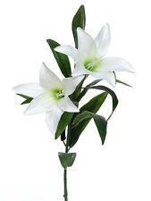 Artificial Easter Lily Spray White 80cm/31.5 Inches