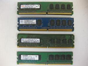 Major-Brand-4GB-Kit-4x1GB-2Rx8-PC2-6400U-800Mhz-DDR2-Desktop-RAM-Memory