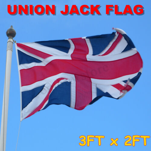 Union Jack Flag 3FT x 2FT 90.5cm x 60.5cm Great Britain United Kingdom UK