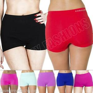 New-Womens-High-Waist-Boxer-Shorts-Pants-Ladies-Underwear-Plus-Size-16-18-20-22
