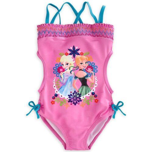 Disney Store Frozen Anna Elsa One Piece Swimsuit Girl Size 7//8